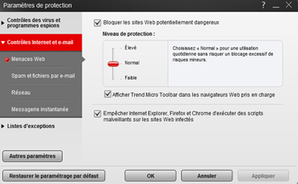 protection contre les menaces web